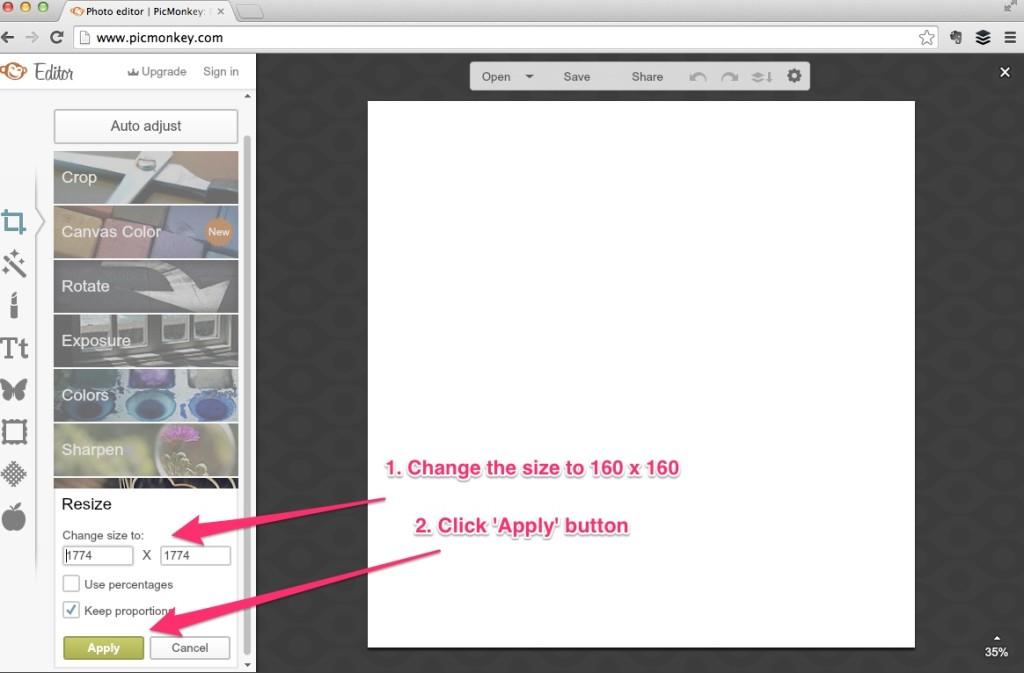 Step 4 picmonkey.com
