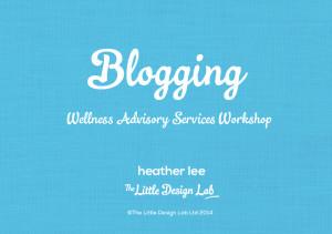 WAS Workshop blogging