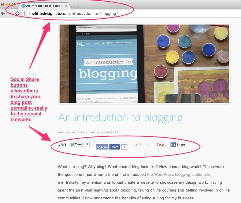 blog social share buttons