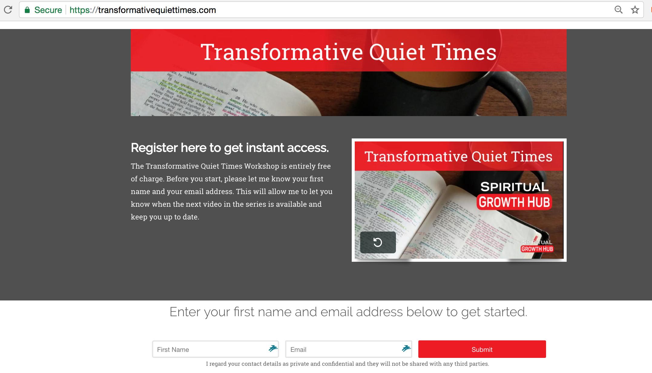 Transformative Quiet Times, Darryl Burling